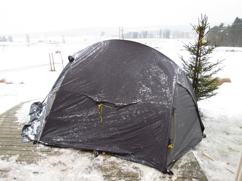 Et telt måtte til på slutten av natten