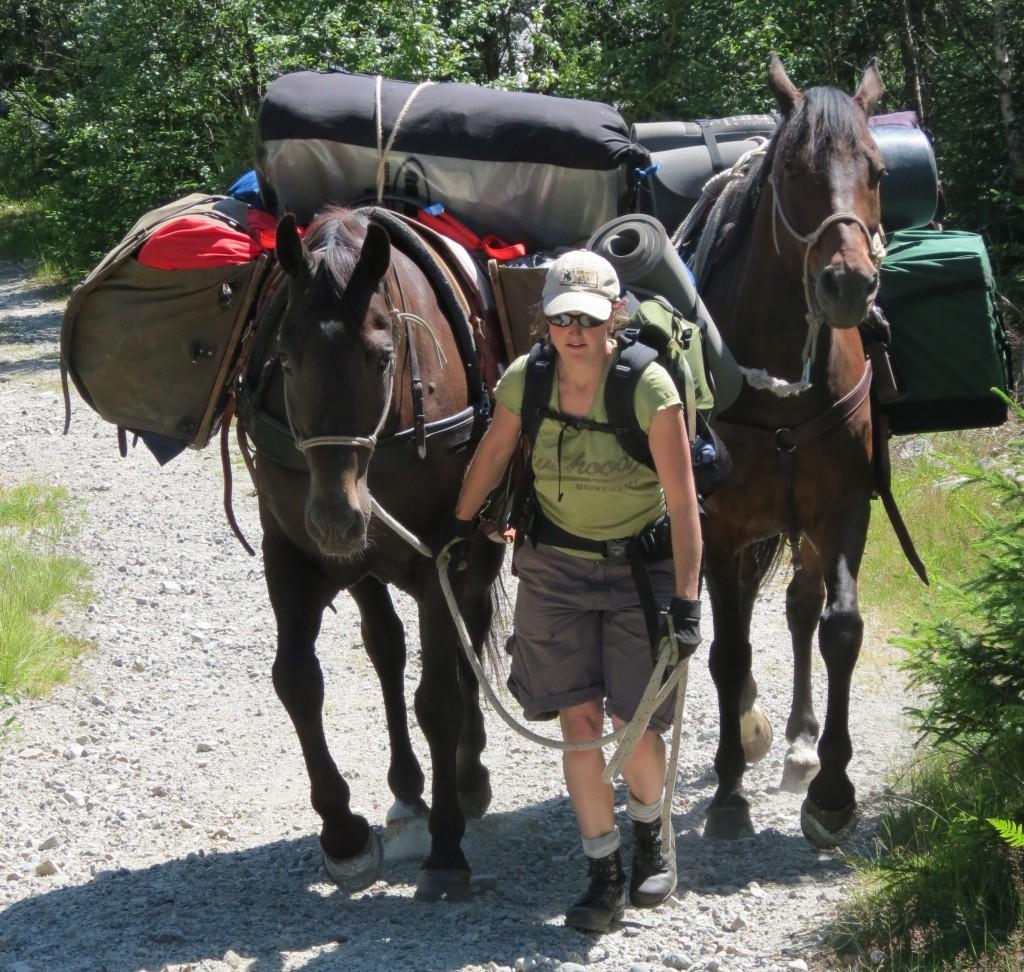Heidi avsted med to kløvhester