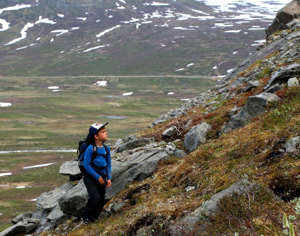 Øyvind bestiger sitt første.
